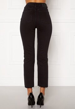 ONLY Emily HW Raw Ank Jeans Black Denim Bubbleroom.dk