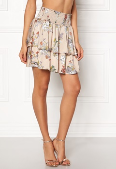 ONLY Eva Layered Skirt Feather Gray Bubbleroom.dk