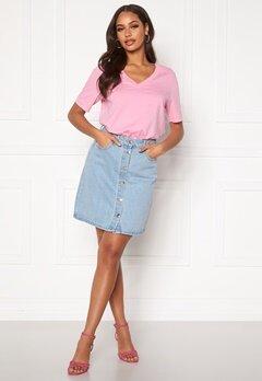 ONLY Farrah Life Reg Skirt Light Blue Denim Bubbleroom.dk