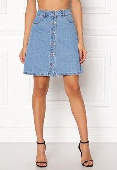 ONLY Farrah Reg Denim Skirt Light Blue Denim Bubbleroom.dk