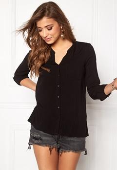 ONLY First ls Pocket Shirt Black Bubbleroom.dk