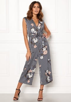 ONLY Gaby S/L Jumpsuit Night Sky / Floral Bubbleroom.dk