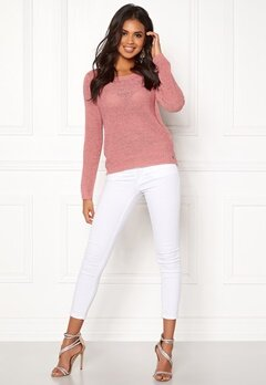 ONLY Geena L/S Pullover Blush Bubbleroom.dk