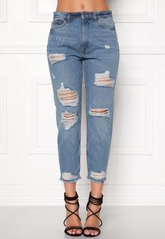 ONLY Gurli Denim Jeans Medium Blue Denim Bubbleroom.dk