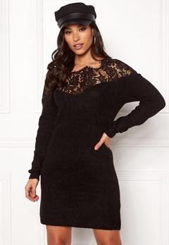 ONLY Hanna Ally L/S Lace Dress Black Bubbleroom.dk