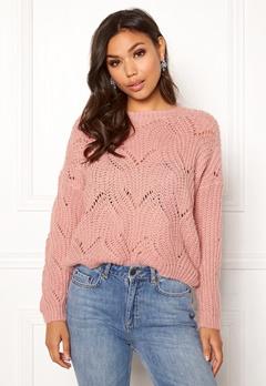 ONLY Havana L/S Pullover Knit Misty Rose Bubbleroom.dk