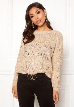 ONLY Havana L/S Pullover Knit Pumice Stone Bubbleroom.dk