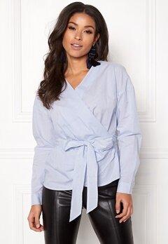 ONLY Helen Wrap Shirt Bright White Bubbleroom.dk