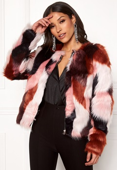 ONLY Jasmine Faux Fur Jacket Picante Bubbleroom.dk