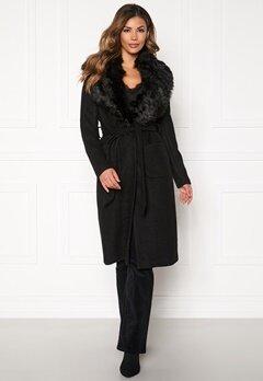ONLY Jolie Long Wool Coat Black Bubbleroom.dk