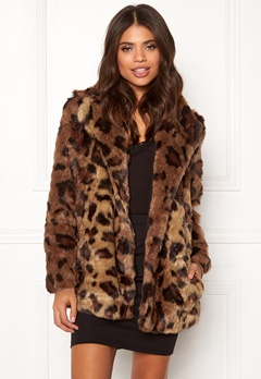 ONLY Juliane Faux Fur Leo Coat Tigers Eye Bubbleroom.dk