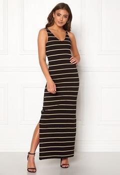 ONLY July S/L Long Dress Black/Stripes Bubbleroom.dk