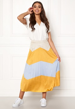 ONLY June Faux Suede Maxi Skirt Golden Yellow Bubbleroom.dk
