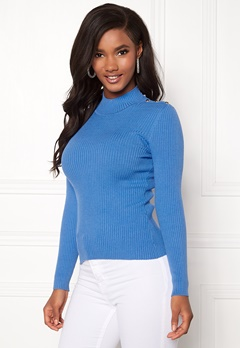 ONLY Kamille Button Pullover Marina Bubbleroom.dk