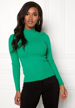 ONLY Kamille Button Pullover Simply Green Bubbleroom.dk