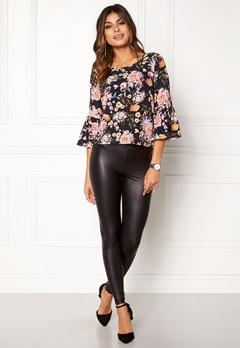 ONLY Kany Bell Top L/S Black Floral Print Bubbleroom.dk