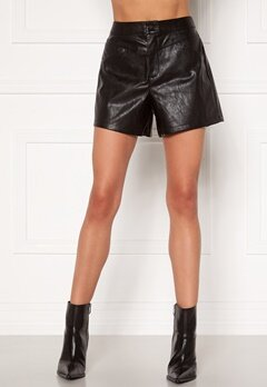 ONLY Kara Faux Leather Shorts Black Bubbleroom.dk