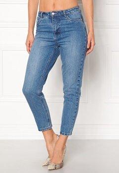 ONLY Kelly Mom Dnm Jeans Medium Blue Denim Bubbleroom.dk
