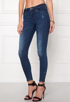 ONLY Kendell Ankle Jeans Dark Blue Denim Bubbleroom.dk