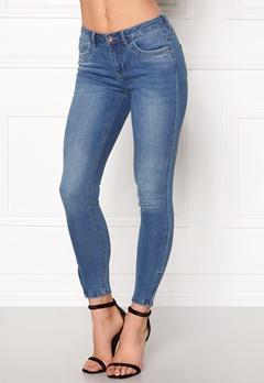 ONLY Kendell Ankle Zip Jeans Medium Blue Denim Bubbleroom.dk
