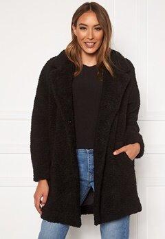 ONLY Laurelia Sherpa Coat Black Bubbleroom.dk