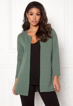 ONLY Leco 7/8 Long Cardigan Laurel Wreath Bubbleroom.dk