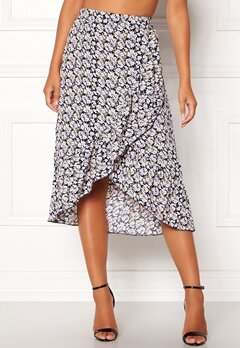 ONLY Lilac Long Frill Skirt Night Sky Bubbleroom.dk