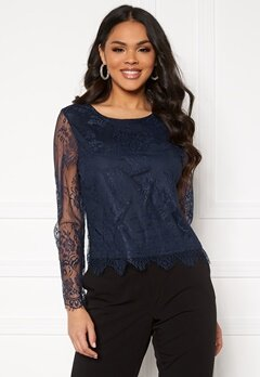 ONLY Lillie Lace Top Night Sky Bubbleroom.dk