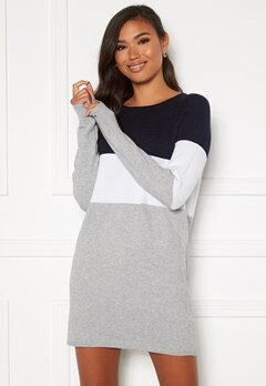 ONLY Lillo L/S Dress Knit Night Sky Bubbleroom.dk