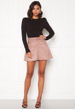 ONLY Linea Faux Suede Bonded Skirt Burlwood Bubbleroom.dk