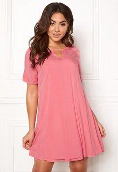 ONLY Lisa S/S Peep Dress Sunkist Coral Bubbleroom.dk