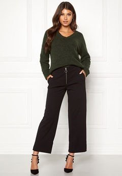 ONLY Lisa Wide Fit Pant Black Bubbleroom.dk