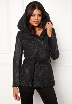 ONLY Lisford Boucle Wool Coat Black Bubbleroom.dk