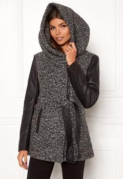 ONLY Lisford Boucle Wool Coat Dark Grey Melange Bubbleroom.dk
