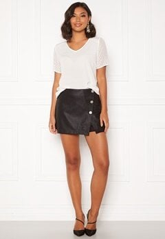 ONLY Liva Faux Leather Shorts Black Bubbleroom.dk