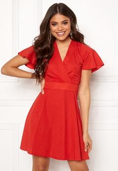 ONLY Liva S/S Dress High Risk Red Bubbleroom.dk