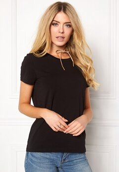 ONLY Live Love Trendy O-Neck Black Bubbleroom.dk