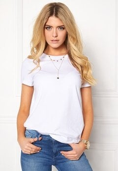ONLY Live Love Trendy O-Neck White Bubbleroom.dk