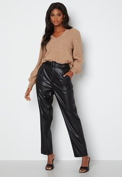 ONLY Lucy Faux Leather Pant Black bubbleroom.dk