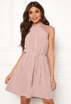 ONLY Lunu S/L Dress Adobe Rose Bubbleroom.dk