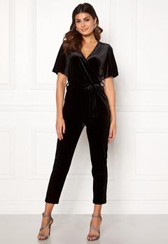 ONLY Luxe Velvet SS Jumpsuit Black Bubbleroom.dk