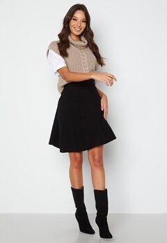 ONLY Lynsie Skirt Knit Black bubbleroom.dk