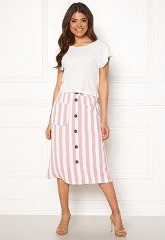 ONLY Madeline Piper Midi Skirt Rose Smoke/Stripes Bubbleroom.dk