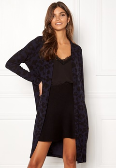 ONLY Mala L/S Leo Cardigan Night Sky/Black Leo Bubbleroom.dk