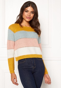ONLY Malone Stripe Pullover Golden Yellow Bubbleroom.dk