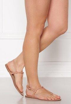 ONLY Margit PU Glitter Split Toe Sandal Nude Bubbleroom.dk