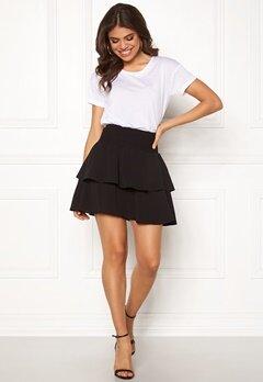 ONLY Mariana Myrina Layered Skirt Black Bubbleroom.dk