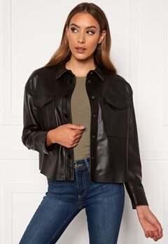 ONLY Marina Faux Jacket Black Bubbleroom.dk