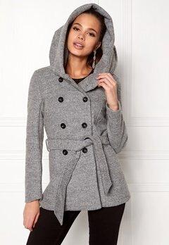 ONLY mary lisa short wool coat Light Grey Melange Bubbleroom.dk