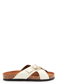 ONLY Maxi PU Croc Crossover Sandal white Bubbleroom.dk